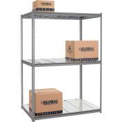 Global Industrial™ High Cap. Starter Rack 60Wx48Dx84H 3 Level Steel Deck 1300lb Per Shelf GRY