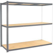 Global Industrial™ High Capacity Add-On Rack 96x48x963 Levels Wood Deck 800 Lb Per Level GRY