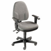 Interion® Multifunction Office Chair With Arms - Fabric - Gray