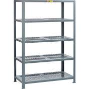 "Little Giant® 5SHP-3072-72 Heavy-Duty Perforated Steel Shelving, 30"" x 72"", 5 Shelves"