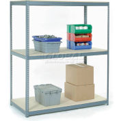 """Wire Span Rack 96""""W x 48""""D x 96""""H With 3 Shelves Wood Deck 800 Lb Capacity Per Level - Gray"""