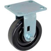 "Global Industrial™ Heavy Duty Rigid Plate Caster 5"" Plastic Wheel 500 Lb. Capacity"