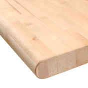 """Global Industrial™ 48""""W x 30""""D x 1-3/4""""H Maple Butcher Block Safety Edge Workbench Top"""