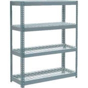"""Global Industrial™ Extra Heavy Duty Shelving 48""""W x 24""""D x 72""""H With 4 Shelves, Wire Deck, Gry"""