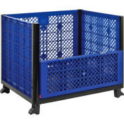Global Industrial™ Easy Assembly Vented Wall Container - Drop Gate 39-1/4x31-1/2x33-1/2 Overall