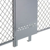 Global Industrial™ Fill-A-Gap Adjustable Panel for 8' Wire Mesh Partition