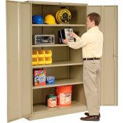 "Global Industrial™ Storage Cabinet, Turn Handle, 48""Wx18""Dx78""H, Tan, Unassembled"