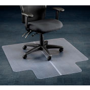 "Interion® Office Chair Mat for Carpet - 45""W x 53""L with 25"" x 12"" Lip - Straight Edge"