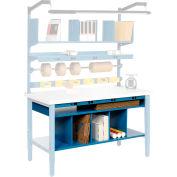 """Global Industrial™ Steel Lower Shelf, 72""""W x 31""""D, Blue"""