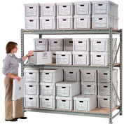 "Global Industrial™ Record Storage Rack Starter 60""W x 18""D x 72""H"