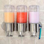 simplehuman® Triple Wall Mount savon pompes BT1029