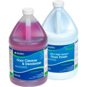 Global Industrial™ Floor Cleaning Kit - Floor Cleaner & Finish - Case Of Two 1-Gallon Bottles