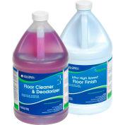 Kit de nettoyage pour planchers Global Industrial™, nettoyant et fini pour planchers – caisse de deux bouteilles de 1 gallons