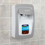 Distributeur manuel Industrial™ global pour savon mousse/désinfectant-blanc/gris