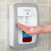 Global Industrial™ distributeur automatique de savon mousse/désinfectant-blanc/gris