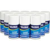 Global Industrial™ Automatic Air Freshener Refills, Lemon 7 oz. Can - 12 Refills/Case
