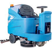"""Global Industrial™ Auto Ride-On Floor Scrubber 34"""" Cleaning Path, Three 170 Amp Batteries"""