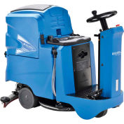 """Global Industrial™ Auto Ride-On Floor Scrubber 22"""" Cleaning Path, Two 100 Amp Batteries"""