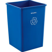 Global Industrial™ Boîte à ordures carrée de recyclage, 35 gallons, bleu