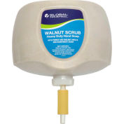 Global Industrial™ Walnut Scrub Heavy Duty Hand Cleaner, Rainforest Scent, 2L Refill - 4/Case
