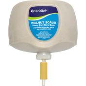 Global Industrial™ Walnut Scrub Heavy Duty Hand Cleaner, Rainforest Scent, 2L Refill - 4/Case