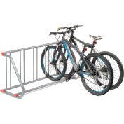 Global Industrial™ Grid Bike Rack, 5-Bike, Single Sided, Powder Coated Steel