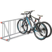 Global Industrial™ Grid Bike Rack, 5-Bike, Single Sided, Powder Coated Steel