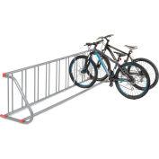 Global Industrial™, Support à vélo à réseau d'acier à face unique, s'adapte à 9 vélos, 31-3/16 x 26-1/2 x 111-5/8»