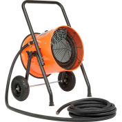 Global Industrial™ Salamander Heater Portable Electric, 208V 15 KW 3 Phase With 25'L Power Cord