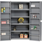 """Global Industrial™ Storage Cabinet With Interior Shelving, Gray, 38""""W x 24""""D x 72""""H"""