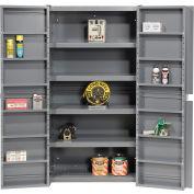 "Global Industrial™ Bin Storage Cabinet W/Shelving In Doors/Interior, 38""Wx24""Dx72""H,Unassembled"