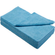 """Global Industrial™ 300 GSM Microfiber Cleaning Cloths, 16"""" x 16"""", Blue, 12 Cloths/Pack"""