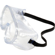 ERB™ 15144 Perforated Impact Resistant Goggles - Standard, Clear Lens, Black Straps