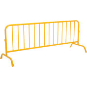 "Global Industrial™ Crowd Control Barrier Powder Coated Yellow 102""L x 40""H x 1-5/8"" Dia."