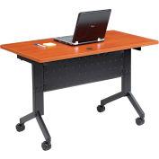 "Interion® Training Table - Flip-Top 48"" x 24"" - Cherry"