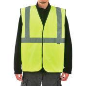"Global Industrial Class 2 Hi-Vis Safety Vest w/ Global Logo, 2"" Reflective Strips, Lime, L/XL"