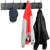 Interion® Wall Mounted Coat Rack - Black