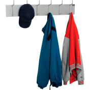 Interion® Wall Mounted Coat Rack - Silver