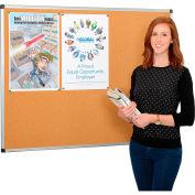 Cork Bulletin Board - 48 x 36 - Aluminum Frame