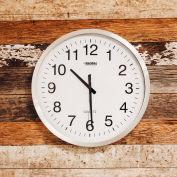 """Global Industrial™ Oversized Wall Clock - 20"""" - Aluminium"""