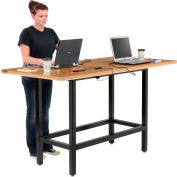 """Interion® Standing Height Table with Power, 72""""Lx36""""Wx 42""""H, Natural"""