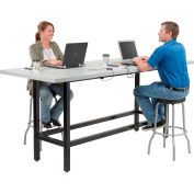 """Interion® Standing Height Table With Power, 96""""Lx36""""W, Gray"""