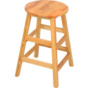 "Interion® 24"" Wood Stool"