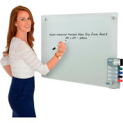 Global Industrial™ Frosted Glass Dry Erase Board - 36 x 24
