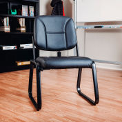 Interion® Antimicrobial Armless Bonded Leather Reception Chair