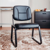 Interion® Armless Vinyl Reception Chair