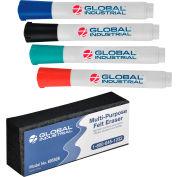 Global Industrial™ Dry Erase Marker & Eraser Kit