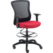 Interion® Mesh Back Task Stool, Rouge