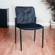 Interion® Mesh Back Guest Chair - Black