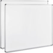Global Industrial™ Magnetic Whiteboard - 60 x 48 - Steel Surface 2 Pack